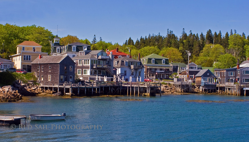 """Stonington Harbor, Maine. Located on Deer Island, the southern most point of the Blue Hill Peninsula. This harbor is featured in Terrell Lester's book """"Maine, The Seasons""""."""