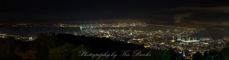 Panoramic view of Penang from Penang Hill, Penang, Malaysia