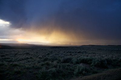 Thunderstorm at Sunset near the Lek