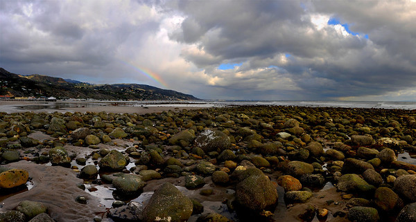 Malibu Lagoon Rocks_Panorama3 with color enhancement