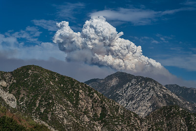 Puffy Smoke Clouds, Angeles National Forest, California