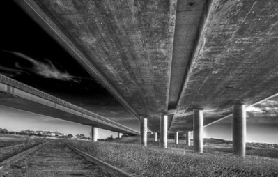 Freeway Overpass in Petaluma, CA