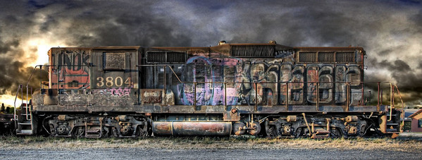 Ominous Locomotive in Petaluma, CA