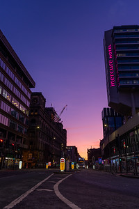 Manchester - Sunset over City