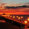 """November Sunset"".  Manhattan Beach Pier, Manhattan Beach, CA.   Image published on the Front Cover of the ""South Bay Monthly"" Magazine, December 2011 (Manhattan Beach, Hermosa Beach, Redondo Beach & El Segundo Issue)."