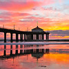 """Warming Winter Sunset"".  Manhattan Beach Pier."