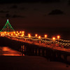 """Holiday Night"".  Night shot of the Holiday Pier Lighting, Manhattan Beach, CA."