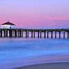 """Alone"".  Sunrise over the Manhattan Beach Pier."