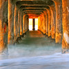 """Sunrise Glow"" (Vertical crop). Manhattan Beach, CA.  Image published on the Front Cover of the ""South Bay Monthly"" Magazine, February 2011 (Manhattan Beach, Hermosa Beach, Redondo Beach & El Segundo Issue)."