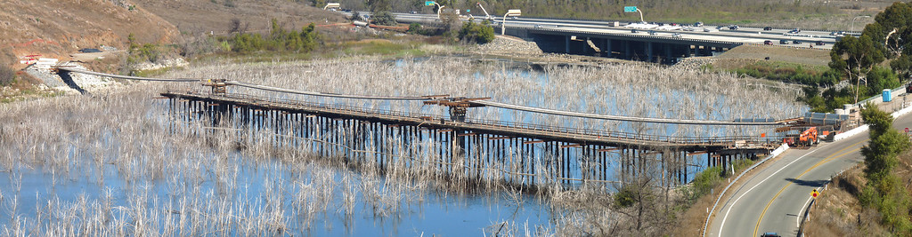 Pedestrian-Bike Bridge under construction Lake Hodges 11/30/08