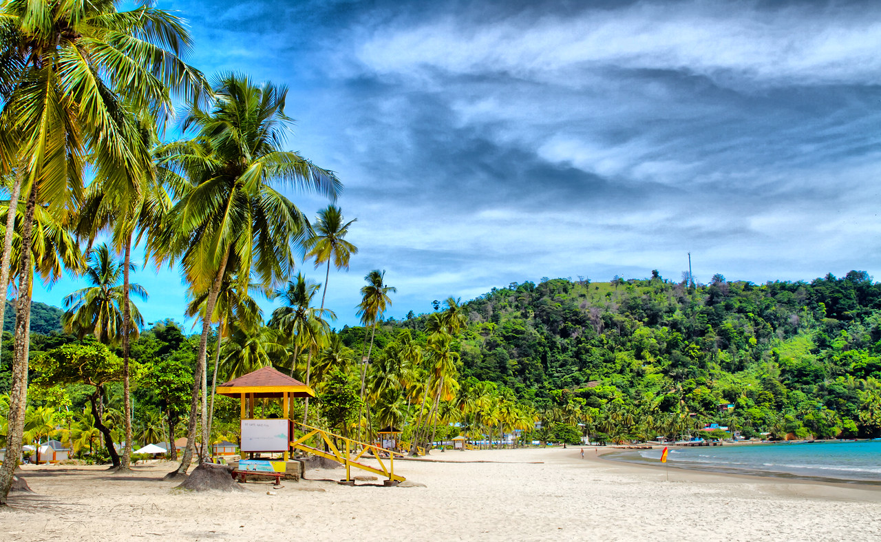Maracas Bay in HDR. Photographed by Damian Luk Pat