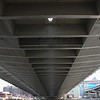 the underside of the Zakim-Bunker Hill Bridge
