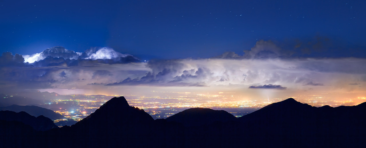 Temporale notturno dal monte Lovinzola - foto n° 110712-805358