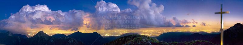 Temporale notturno dal Lovinzola - foto n° 111007-790126