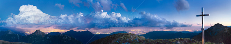 Temporale di notte dal Lovinzola, Alpi Carniche - foto n° 110907-788899