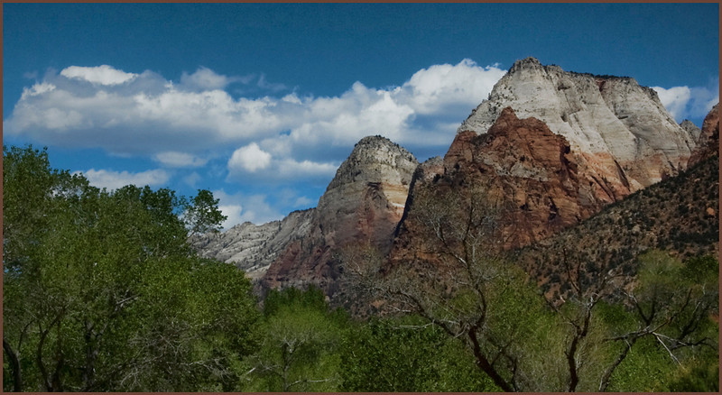 The Patriarchs<br /> <br /> Zion National Park April 2009.