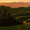 sunset on Bolinas Ridge