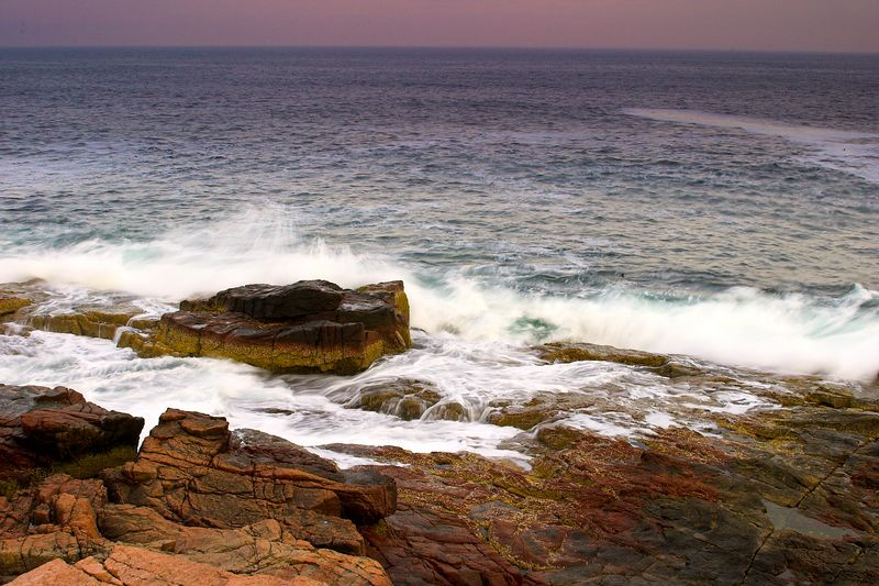 Acadia National Park, Otter Cove at sunset