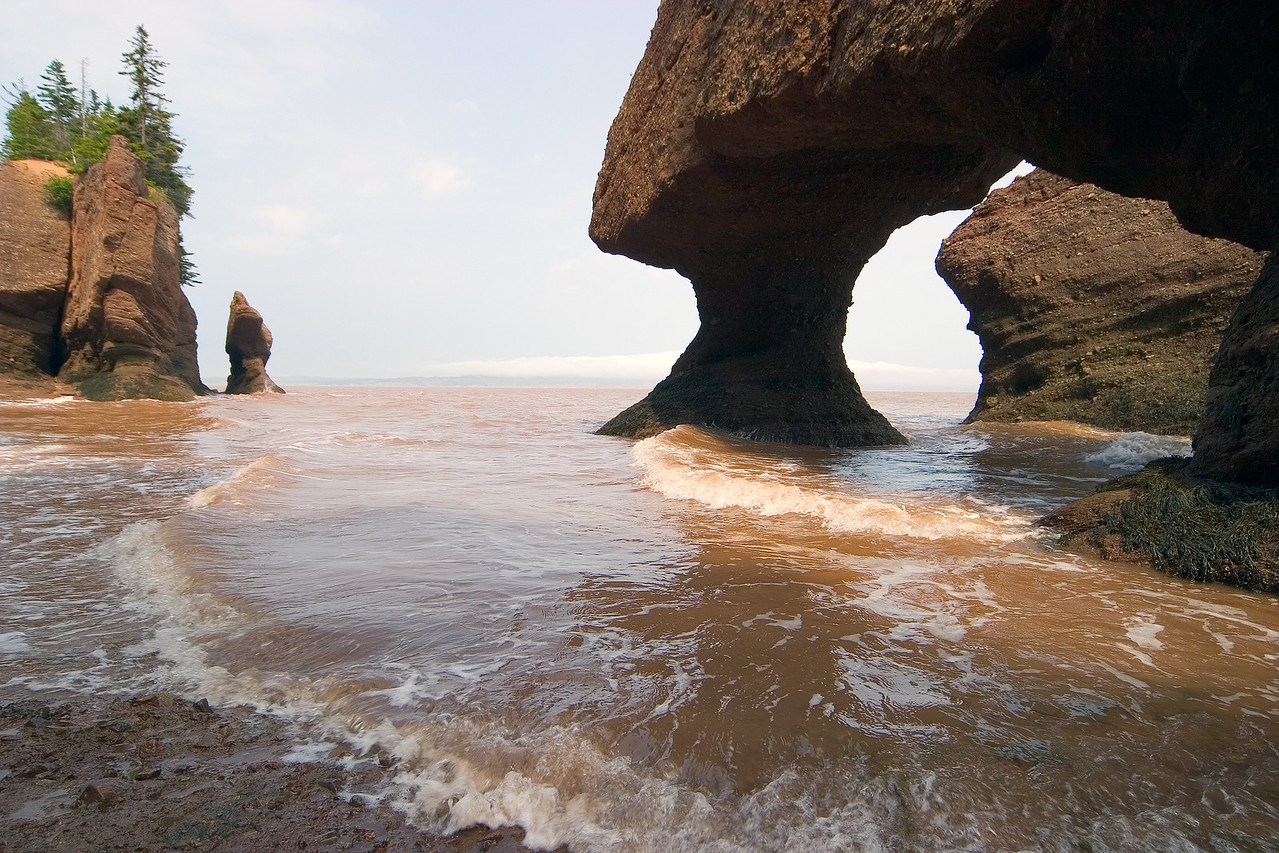 Hopewell Rocks, Bay of Fundy, New Brunswick coast