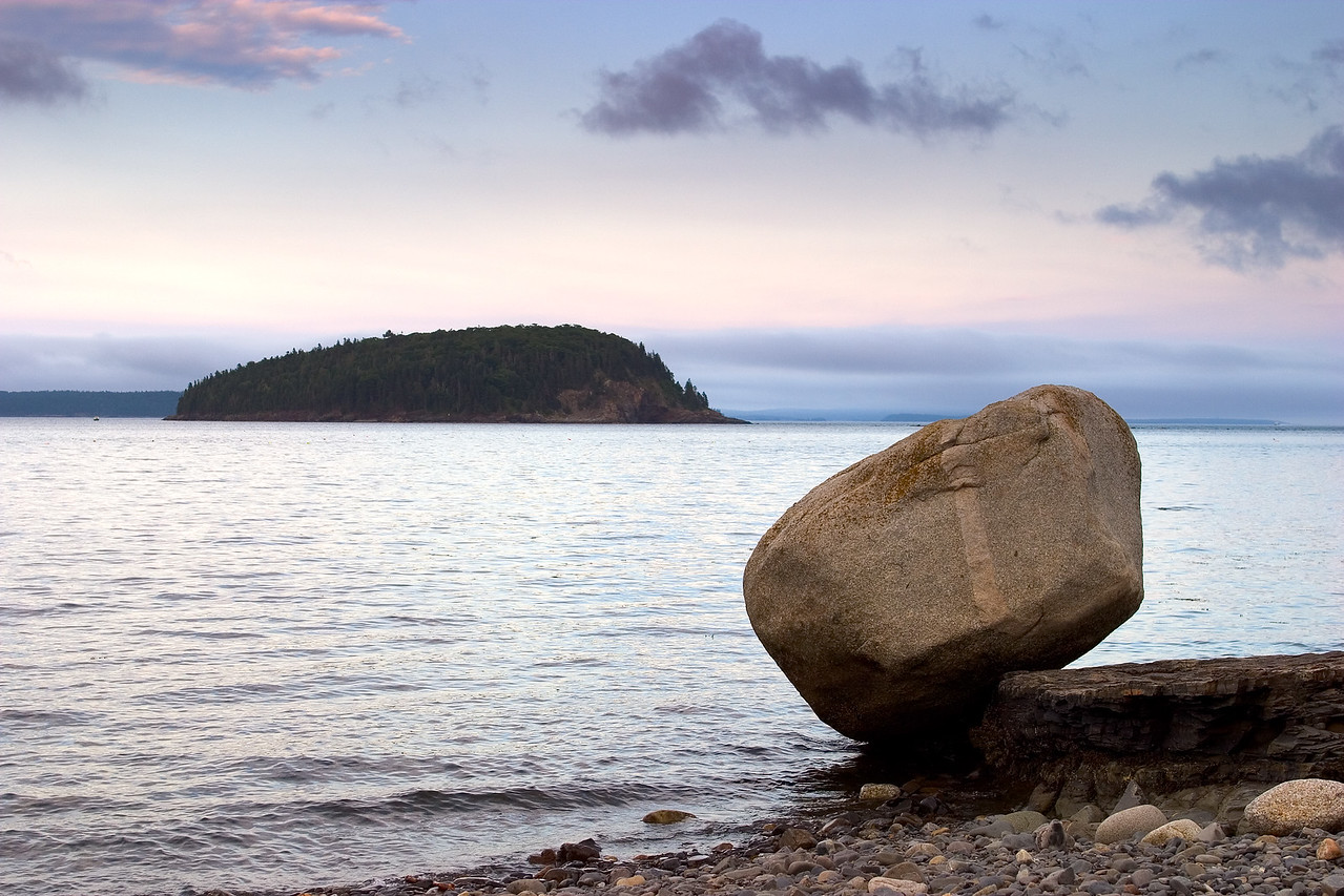 Bar Harbor shore, Coastal Trail, Sunset