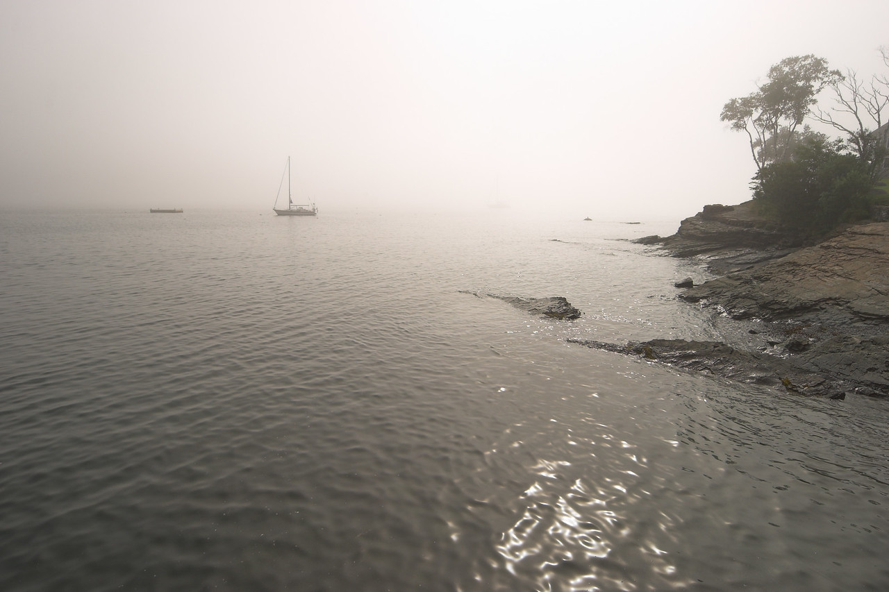 Bar Harbor foggy morning