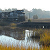 Train in Winter Marsh Scene in the Low Country of Glynn County Georgia