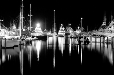 """Harbor Square in Black and White"""