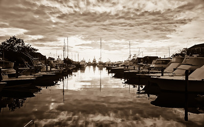 """Harbor Square in Sepia"""