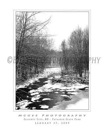 Ellicott City - Pataspco State Park - Black & White