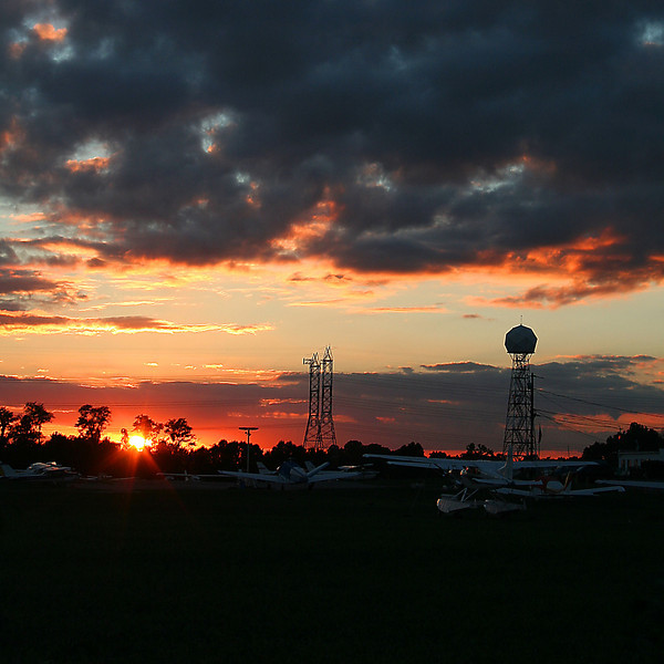 Bowie Airport Sunset