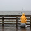 Fishing in the Rain - North Beach