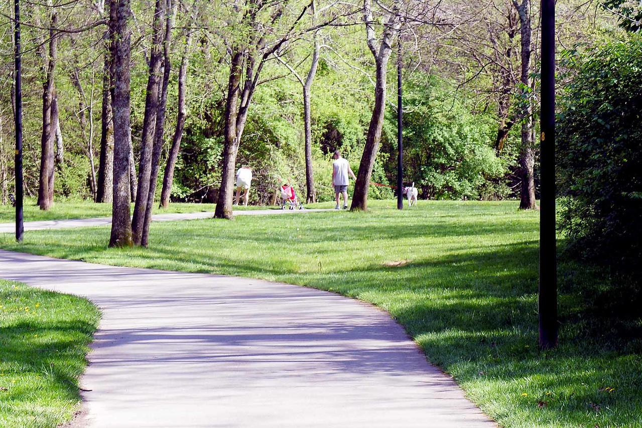 A greenbelt trail