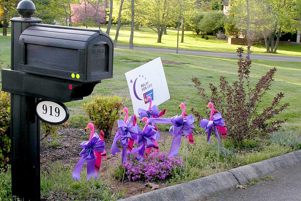 Our front yard - Relay for Life is a Cancer Society fundraiser