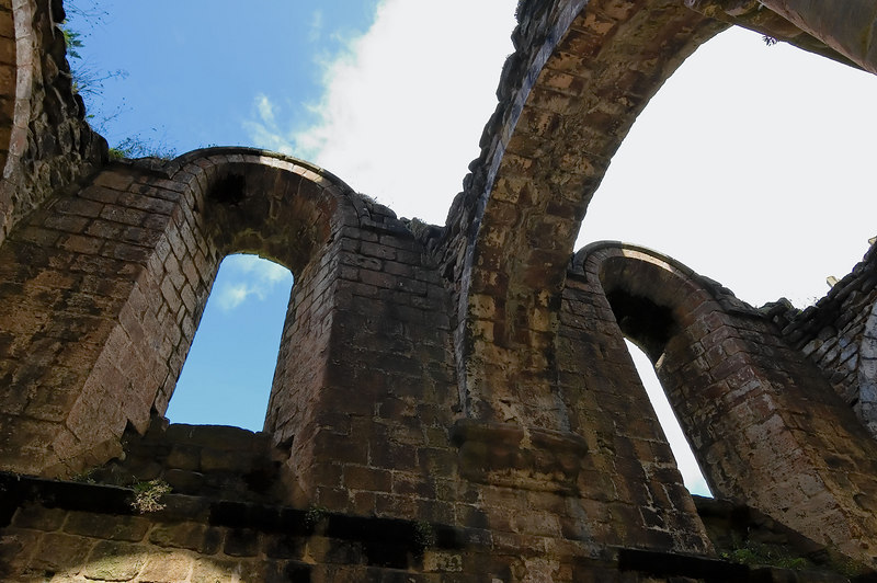 The skylights at Fountains Abbey