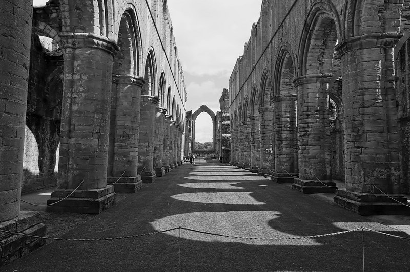 Inside the abbey, artsy