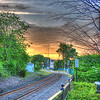 Sunset on the former Eastern Railway, looking North toward Newburyport, Ipswich, MA.