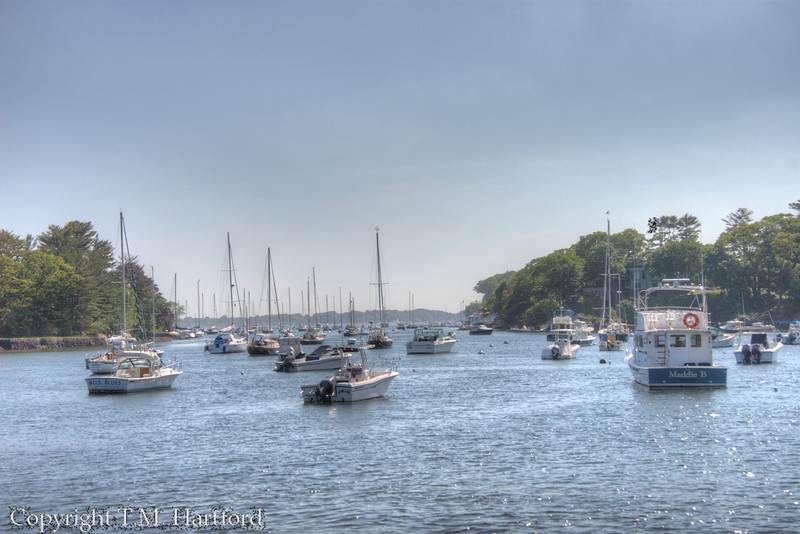 Harbor at Manchester by the Sea, MA. HDR.