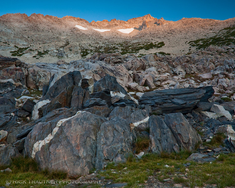 Matterhorn alpenglow from High Camp on ascent day