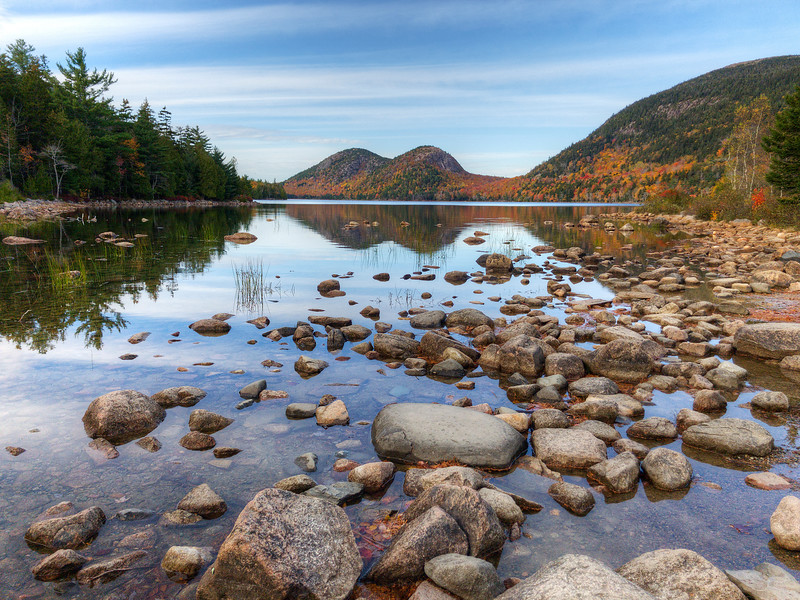 Jordan Pond in Fall - Acadia NP - Maine<br /> iPhone photo