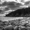 Clouds and Boulder Beach - Acadia NP - Maine<br /> iPhone photo