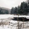 Buttermilk Falls In Winter - The Adirondacks, NY