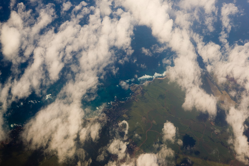 Honolua beneath the clouds.
