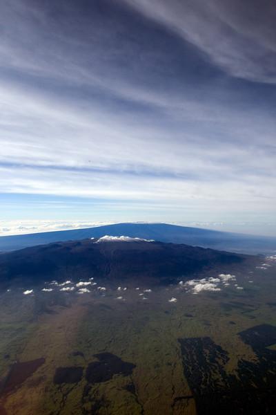"""Peak to Peak""<br /> Mauna Kea with Mauna Loa in background.<br /> Dec '08"
