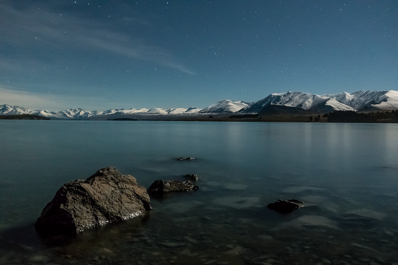 Moon-lit Lake Tekapo