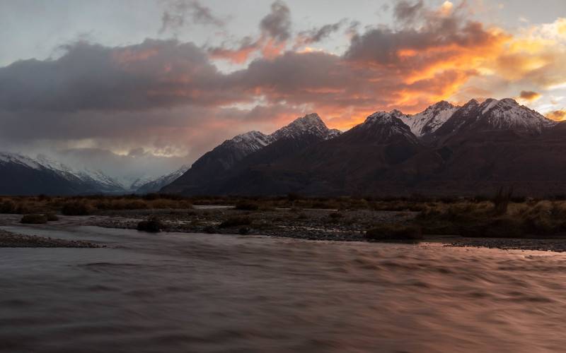 Tasman River at sunrise.