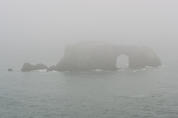 Arch in the mist