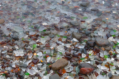 Sea Glass Under Water