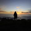 Sunset, Mendocino coastline