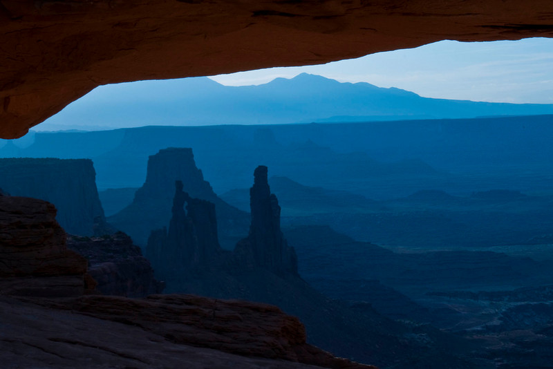 Mesa Arch, Canyonlands National Park, UT.   We left the hotel at 4am for sunrise.  This is pre-dawn.