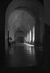 Upper corridor, Augustinian Monastery, Tepotzlan, Mexico